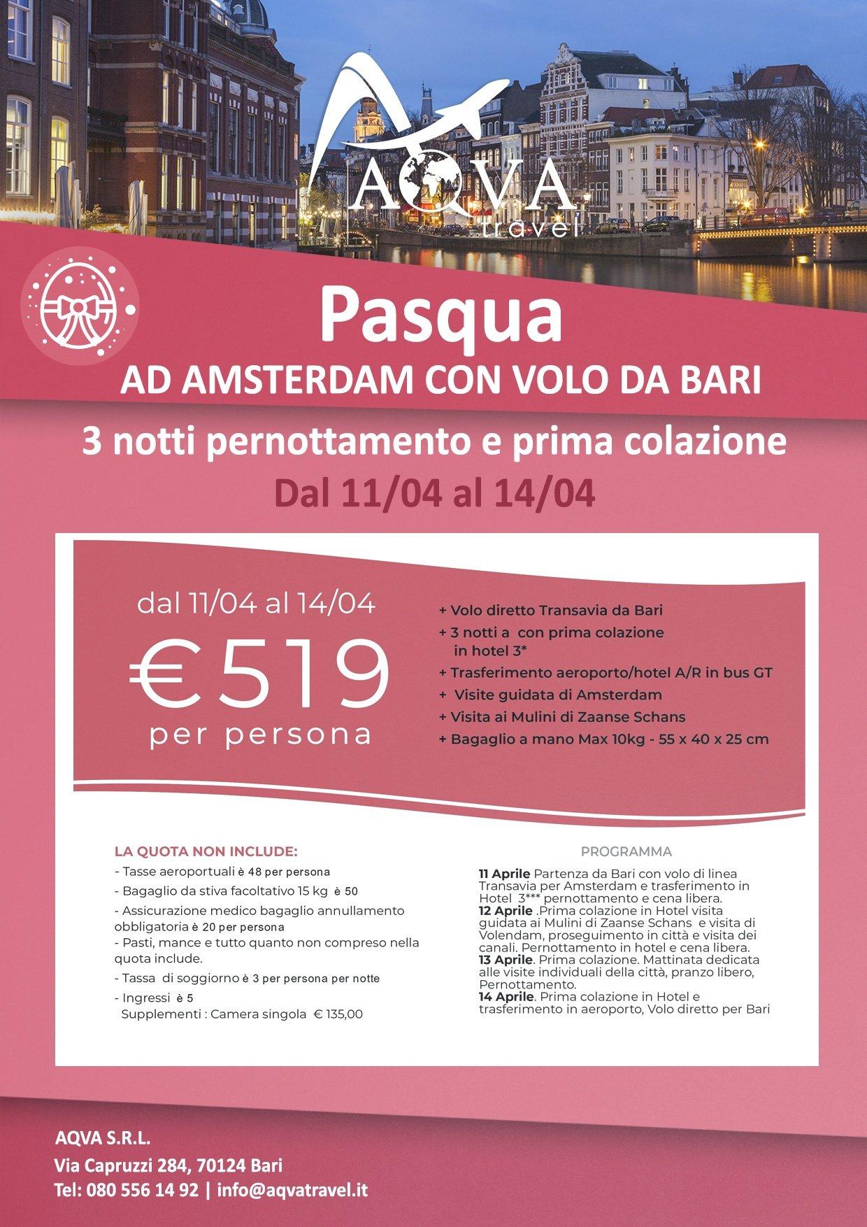 Pasqua-AD-AMSTERDAM-CON-VOLO-DA-BARI-Pasqua-offerte-agenzia-di-viaggi-Bari-AQVATRAVEL-it