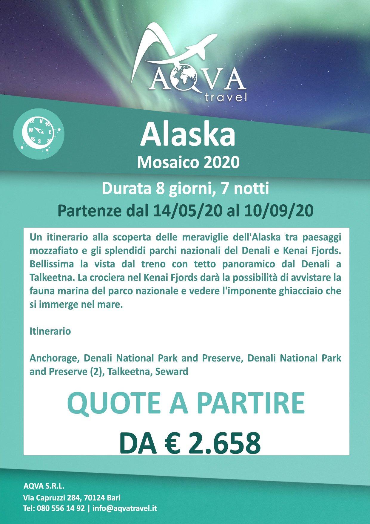 Alaska-Mosaico-2020-Avventura-offerte-agenzia-di-viaggi-Bari-AQVATRAVEL-it