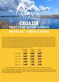 CROAZIA FRUIT FREE APPARTAMENTI NOVALJA OMRA E SILVIA