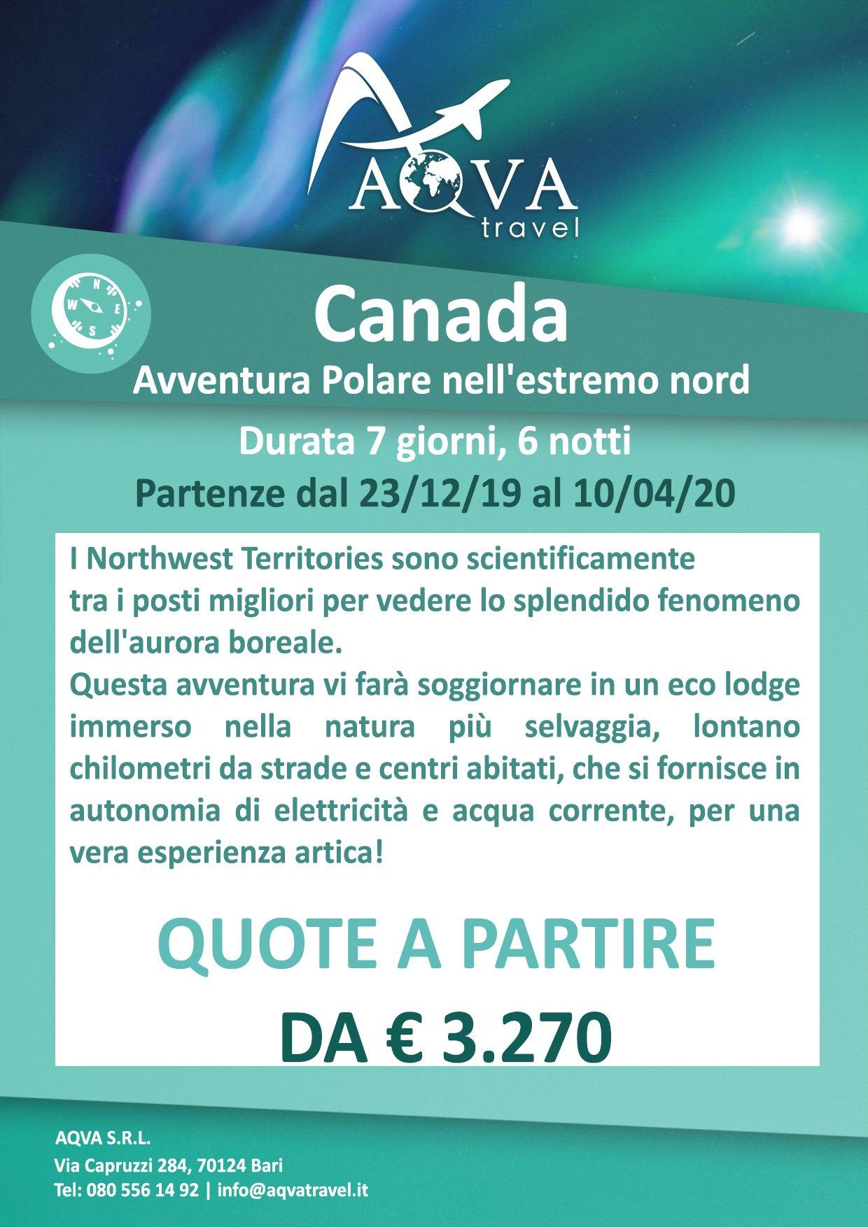 Canada-boreale-offerte-agenzia-di-viaggi-Bari-AQVATRAVEL-it
