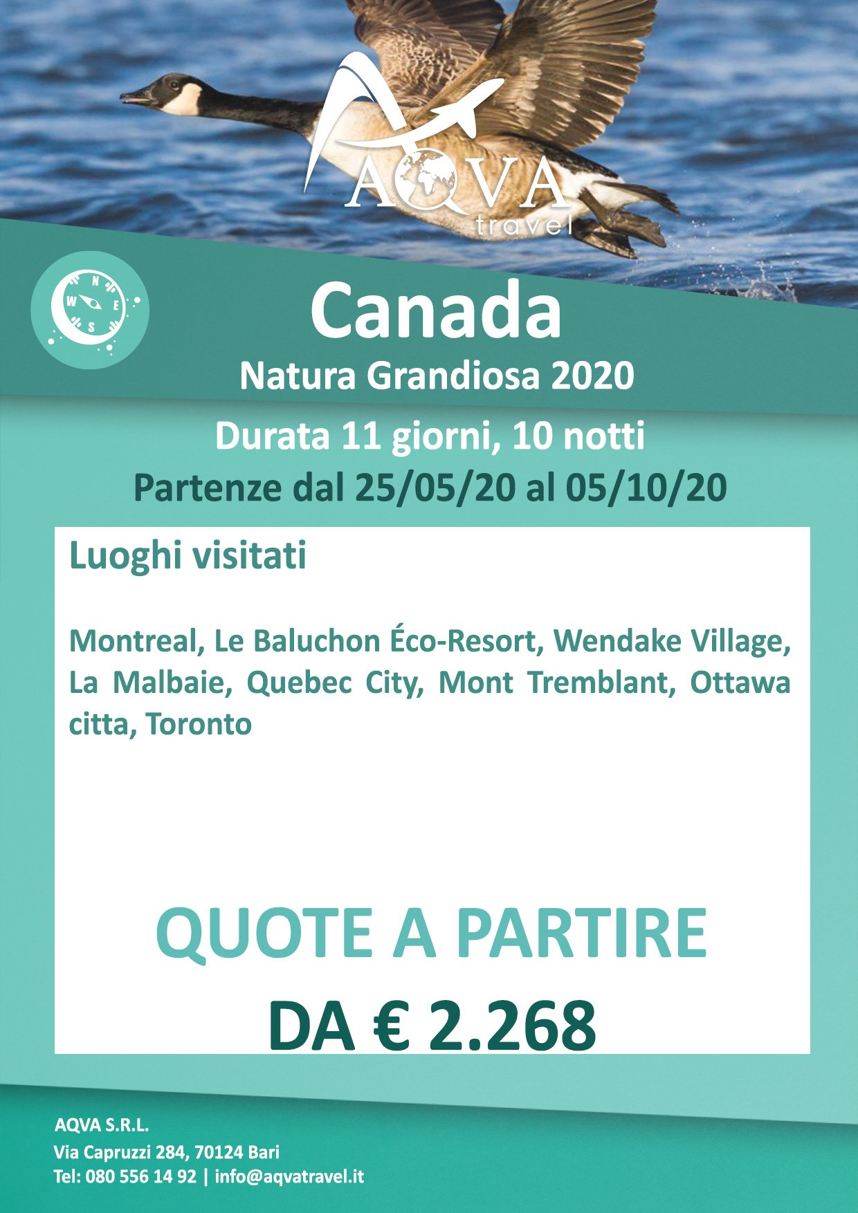 Canada-natura-Grandiosa-offerte-agenzia-di-viaggi-Bari-AQVATRAVEL-it