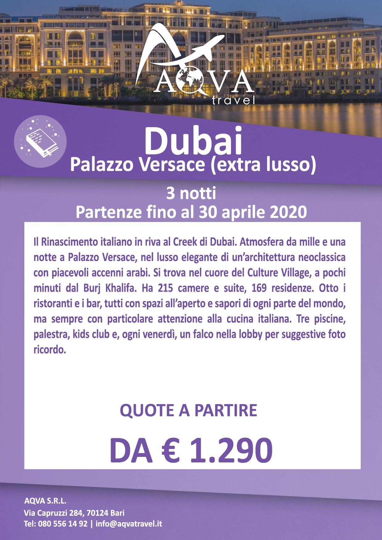 Dubai-PALAZZO-VERSACE-(extra-lusso)-3-notti-offerte-agenzia-di-viaggi-Bari-AQVATRAVEL-it