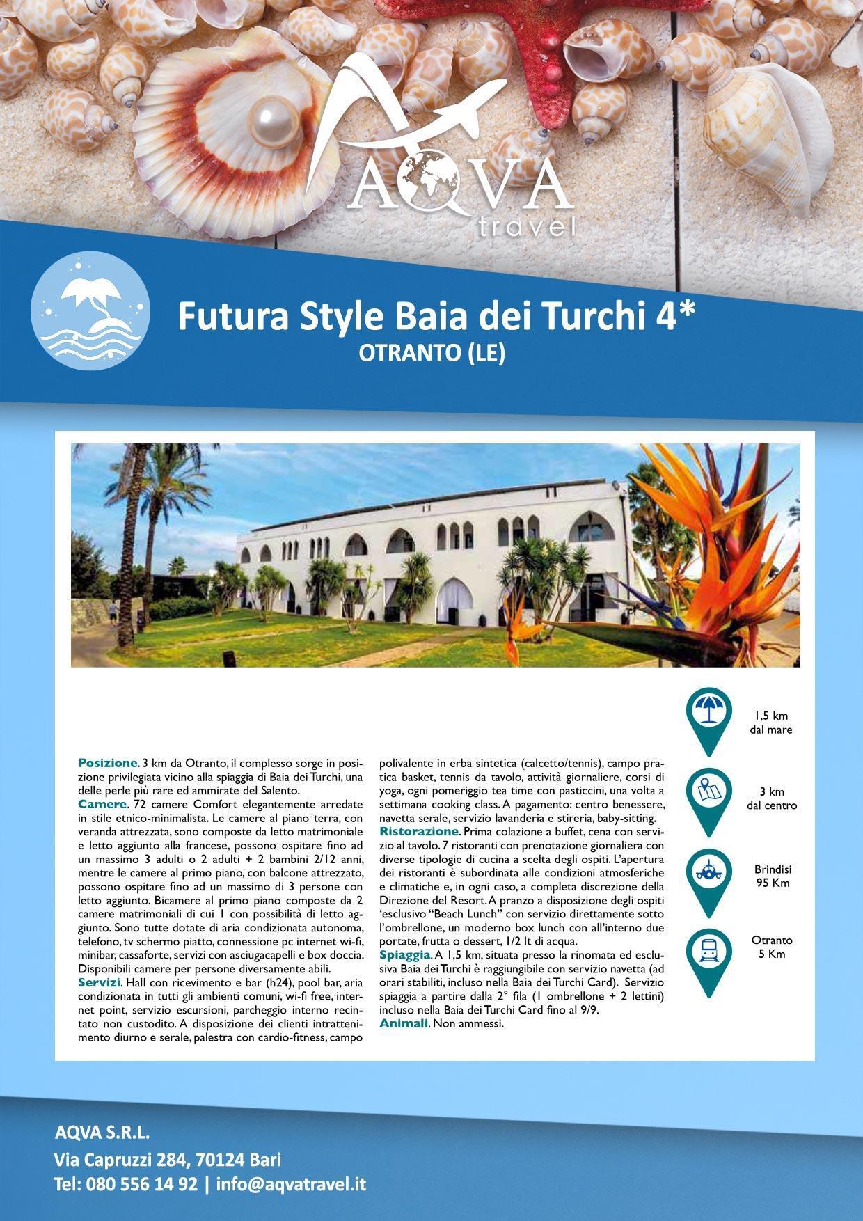 Futura-Style-Baia-dei-Turchi-Mare-offerte-agenzia-di-viaggi-Bari-AQVATRAVEL-it