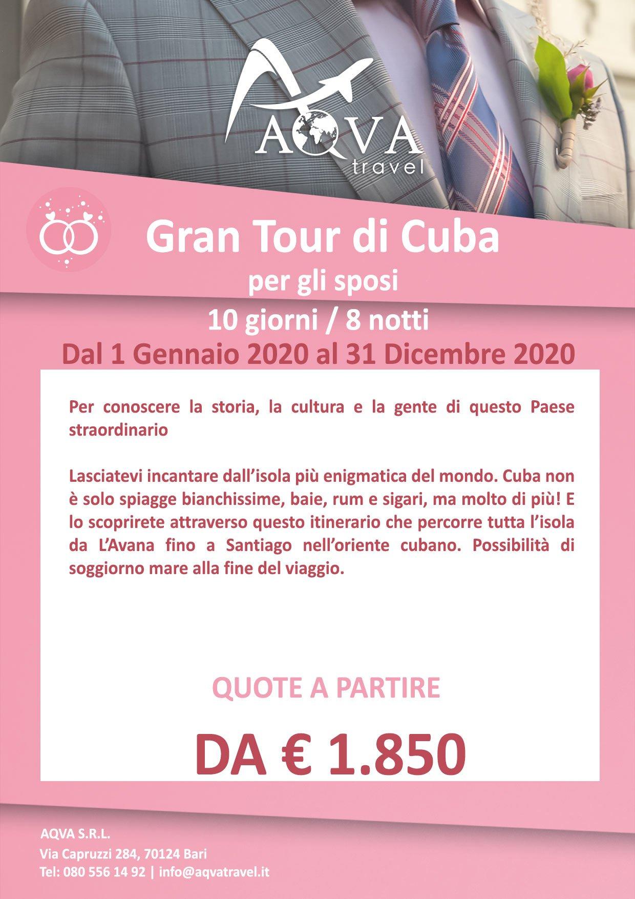 Gran-Tour-di-Cuba-per-gli-sposi-10-giorni-8-notti-VIAGGI-Honeymoon-offerte-agenzia-di-viaggi-Bari-AQVATRAVEL-it