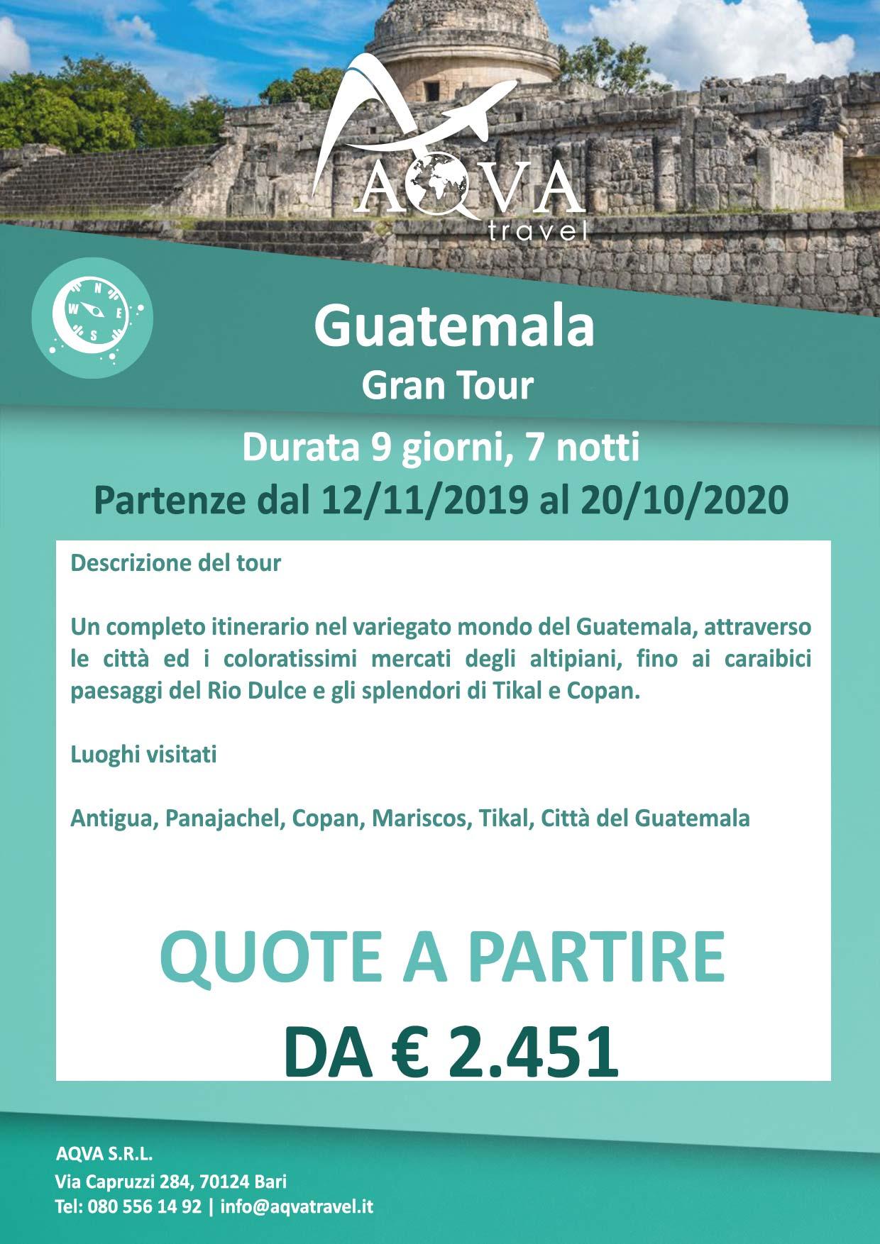 Guatemala-Gran-Tour-Durata-9-giorni-7-notti-Avventura-offerte-agenzia-di-viaggi-Bari-AQVATRAVEL-it