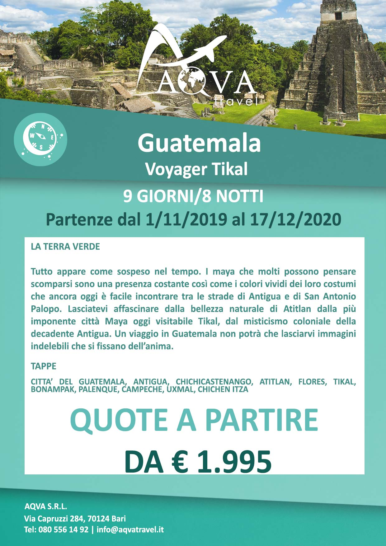 Guatemala-Tikal-9-GIORNI-8-NOTTI-Avventura-offerte-agenzia-di-viaggi-Bari-AQVATRAVEL-it