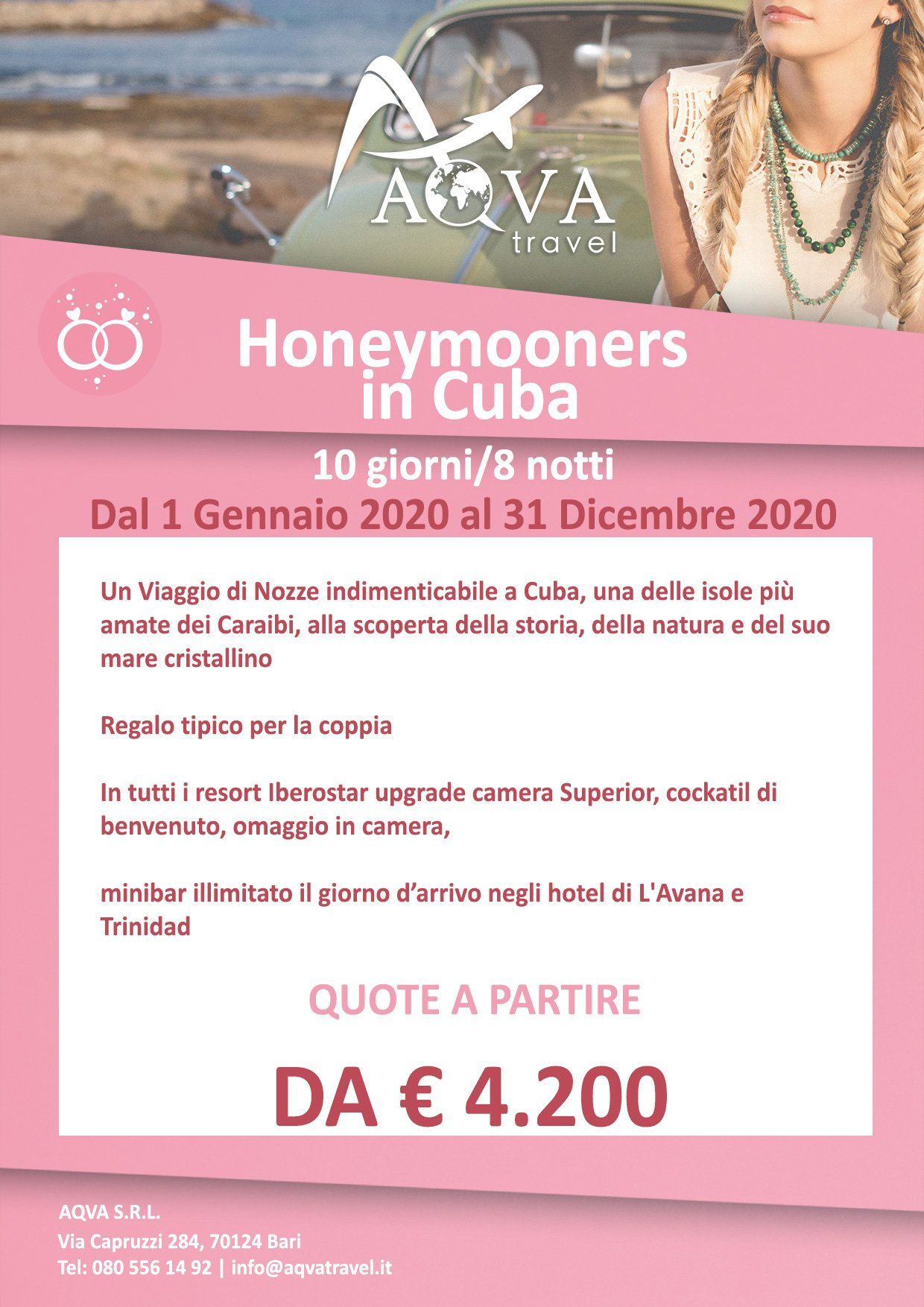 Honeymooners-in-Cuba-VIAGGI-DI-NOZZE-offerte-agenzia-di-viaggi-Bari-AQVATRAVEL-it