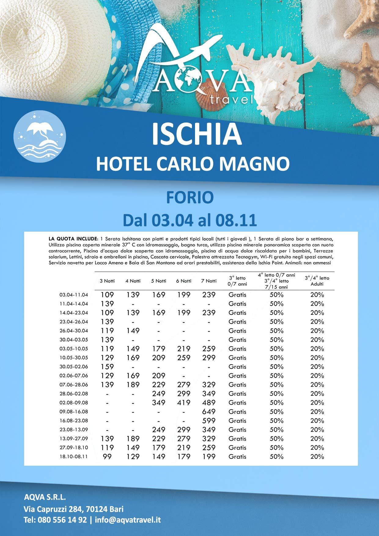 Ischia-HOTEL-CARLO-MAGNO-4-FORIO-Mare-offerte-agenzia-di-viaggi-Bari-AQVATRAVEL-it