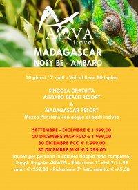 MADAGASCAR - NOSY BE - AMBAR -OFFERTE VIAGGI SETTEMBRE - DICEMBRE