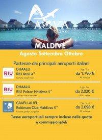 Maldive - Agosto Settembre Ottobre -Offerte Viaggi