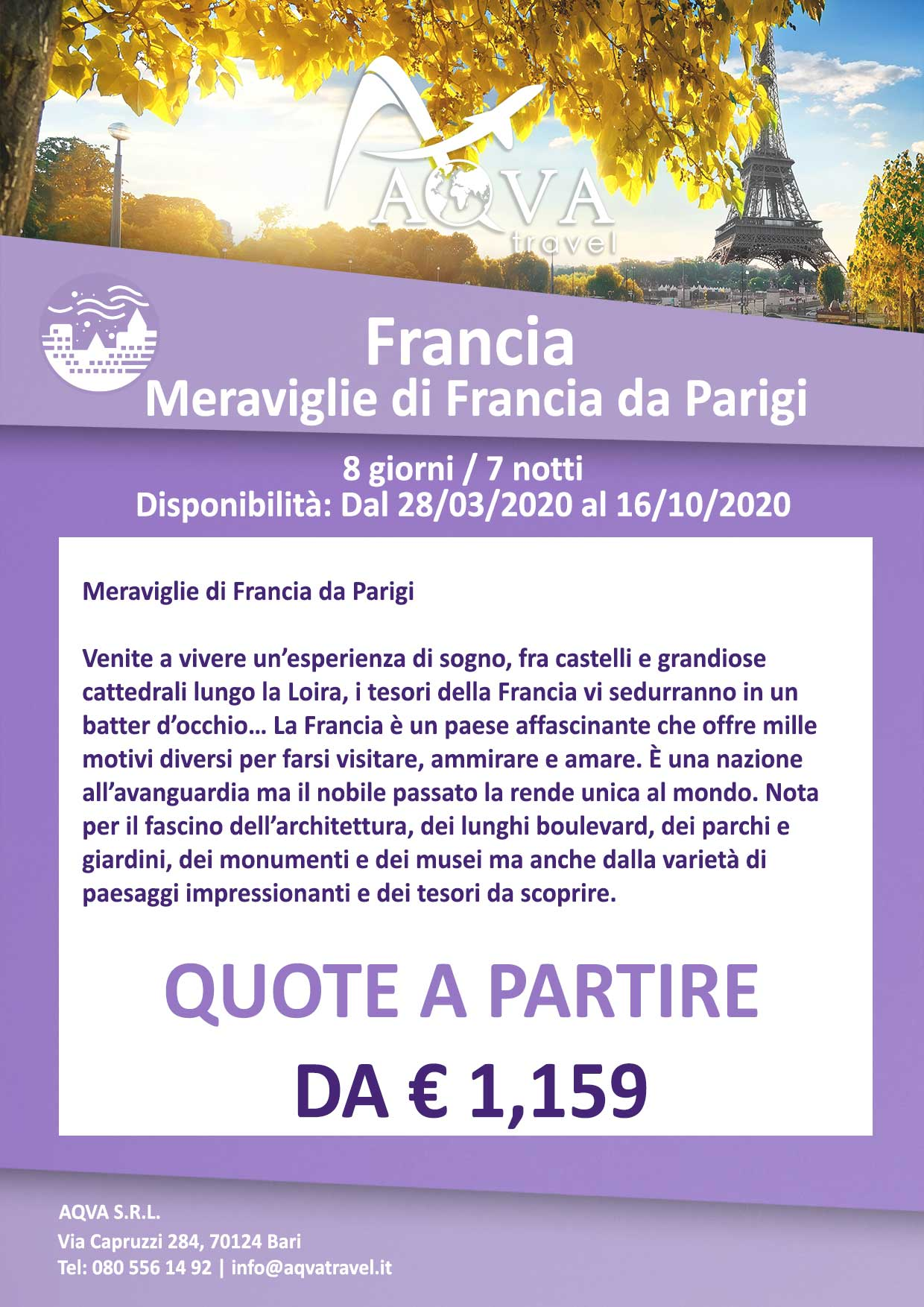 Meraviglie-di-Francia-da-Parigi-offerte-agenzia-di-viaggi-Bari-AQVATRAVEL-it