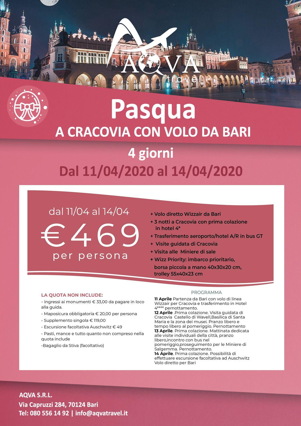 PASQUA-A-CRACOVIA-CON-VOLO-DA-BARI-Pasqua-offerte-agenzia-di-viaggi-Bari-AQVATRAVEL-it