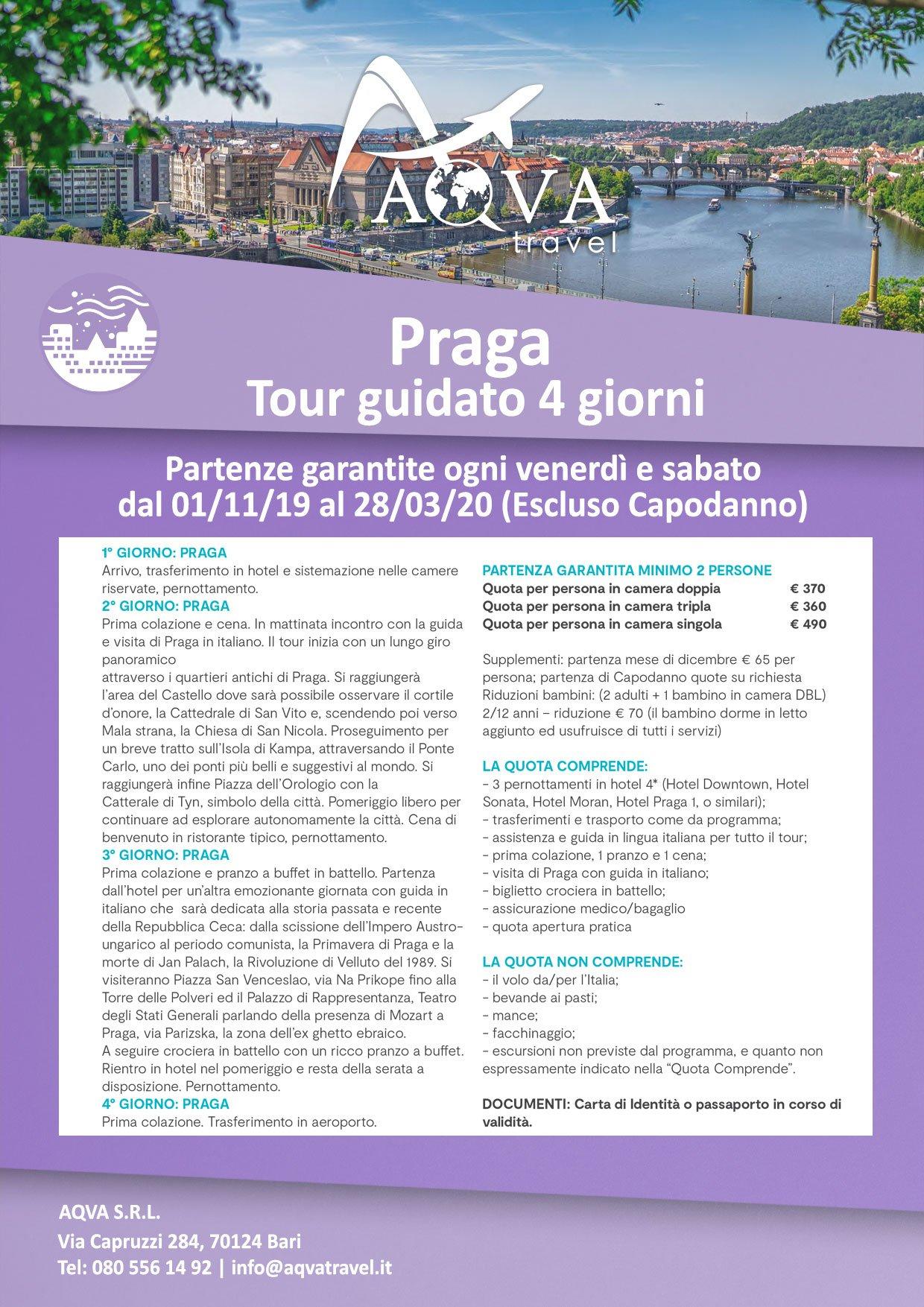 Praga-Tour-guidato-4-giorni-CITTà-offerte-agenzia-di-viaggi-Bari-AQVATRAVEL-it