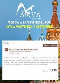 MOSCA e SAN PIETROBURGO InTour PARTENZA 7 SETTEMBRE
