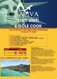STATI UNITI & ISOLE COOK Tour di Gruppo Il Selvaggio West & Rarotonga 12 Giorni / 11 Notti