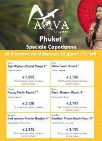 Phuket Speciale Capodanno 26 dicembre da Malpensa, 12 giorni / 9 notti