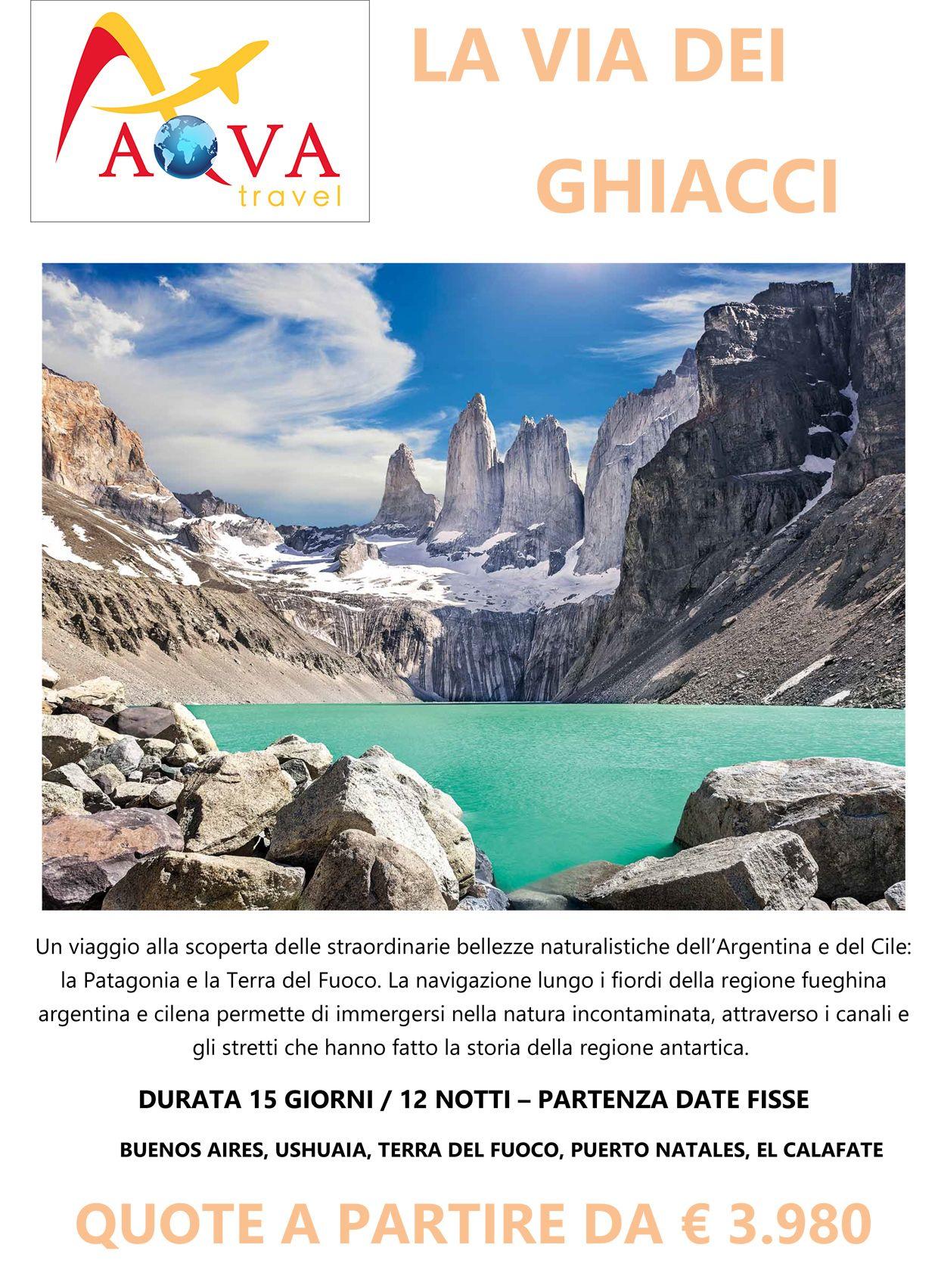 Tour BUENOS AIRES, USHUAIA, TERRA DEL FUOCO, PUERTO NATALES, EL CALAFATE