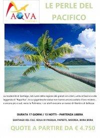 Tour SANTIAGO DEL CILE, ISOLA DI PASQUA, PAPEETE, MOOREA, BORA BORA